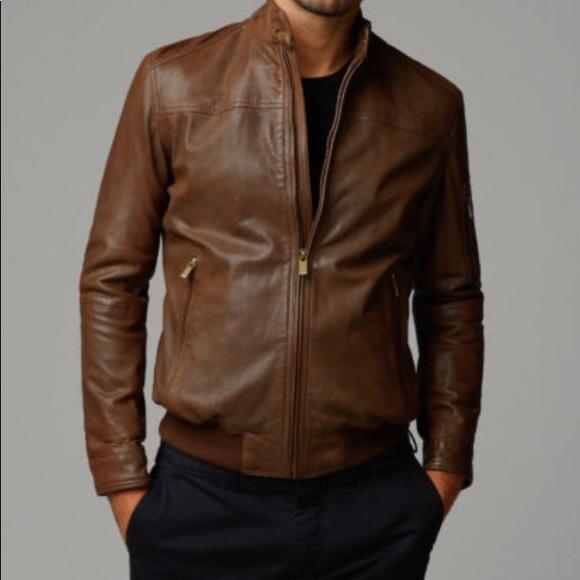 4a3f78717 Massimo dutti perforated nappa leather jacket